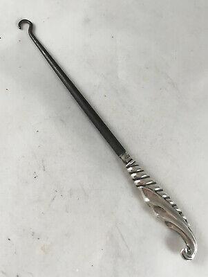 Edwardian Silver Button Hook Levi & Salaman Birmingham 1902 20g 16.3cm A70017