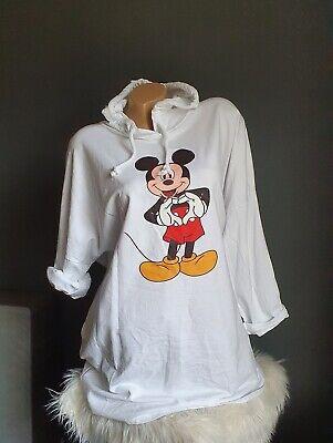 Italy Grande Camisa Larga Mini Vestido Mickey Nuevo Talla 40 42 44...