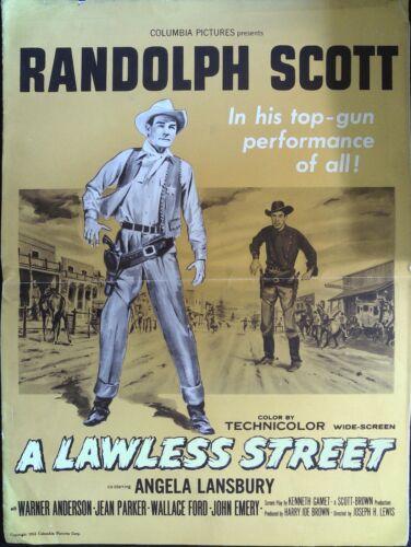 A Lawless Street Pressbook 1955 Randolph Scott, Angela Lansbury