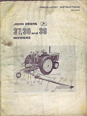 John Deere 37 38 & 39 Mowers Predelivery Instruction Manual