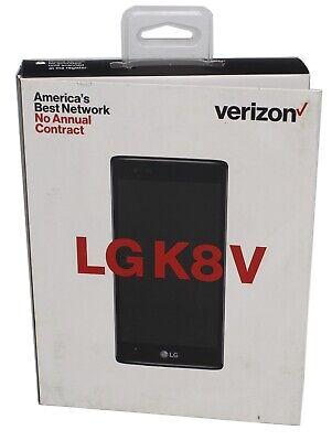 Verizon Prepaid LG K8 V 16GB Black Smartphone Model VS500PP