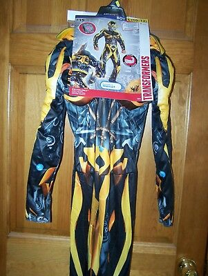 New Transformers Bumblebee Dress Up Halloween Costume Boys Large 10-12](Transformer Dress Up)