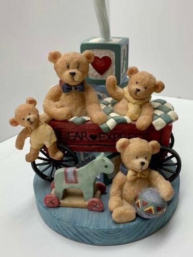 ADORABLE UNIQUE TEDDY BEAR ABC READING CHILDREN'S NURSERY LAMP VINTAGE