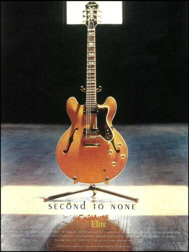 Epiphone Elite (banned name) Casino guitar ad 2003 advertisement print