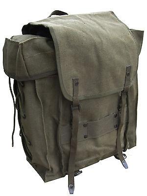 Original Vintage Italian Army Alpini Canvas Backpack