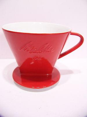 Friesland/Melitta Porzellan-Kaffeefilter / 102 / 1.Wahl / rot NEU