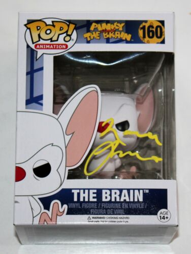 MAURICE LAMARCHE SIGNED PINKY & THE BRAIN FUNKO POP FIGURE ANIMANIACS AUTO +COA