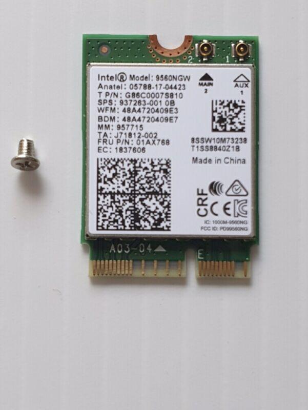 Wireless AC 9560 Intel 9560NGW 802.11ac NGFF 2.4G/5G WiFi  Bluetooth P/N 01AX768
