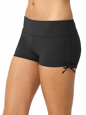 Athleta Black Scrunch Shorts swim bottoms sm NWT!