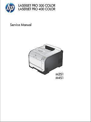 HP LaserJet Pro 300 M351, 400 M451 Color - Service Manual PDF