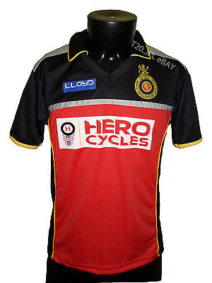 IPL Royal Challengers Bangalore 2016 Jersey Shirt T20 Cricket India RCB