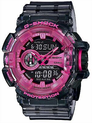 NEW Men's Casio G-Shock Clear Skeleton Pink Analog Digital Watch GA400SK-1A4 comprar usado  Enviando para Brazil
