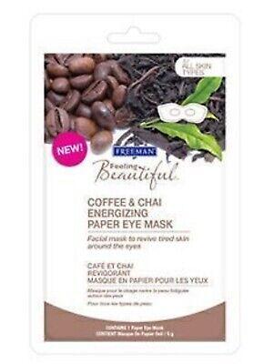 Freeman Coffee & Chai Energizing Paper Eye Mask