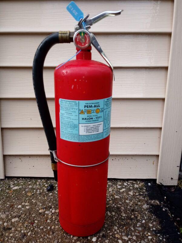 Pen-all Fire Extinguisher - 10Lb HALON 1211 Clean Agent Halon Fire Extinguisher