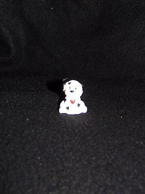 Hallmark Merry Miniature 1992 Valentine Puppy w/Heart spots Dog