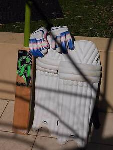 CA Cricket bat, Slazenger pads and GM gloves Pyrmont Inner Sydney Preview