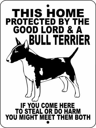 "Bull Terrier 12""x18"" Aluminum Sign"