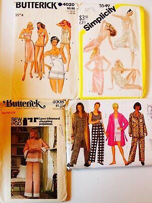U PICK! Misses & Mens Vtg Caftan, Nightgown, Lingerie, Robe Sew Pattern UC  (Misses Nightgown)