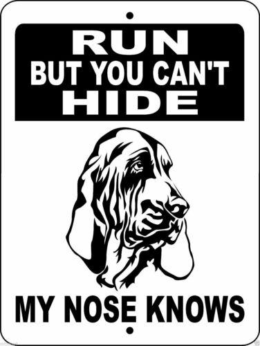 "0315 Bloodhound 9""x12"" Aluminum Sign"