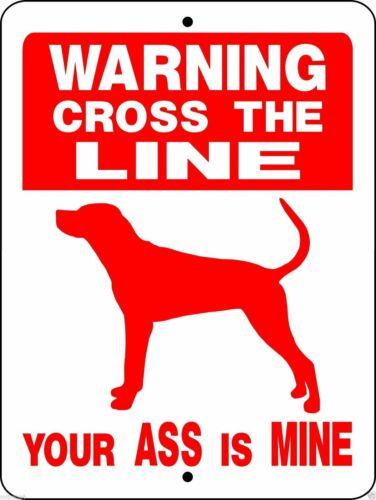 "0422 Coonhound, Redbone, Blue Tick 9""x12"" Aluminum Sign"