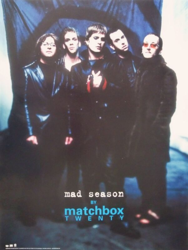 "MATCHBOX 20 (TWENTY) ""MAD SEASON"" U.S. PROMO POSTER -Rob Thomas & Band Standing"