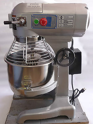 Commercial 20 Qt Mixer With Stainless Steel Beat Hook And Whip