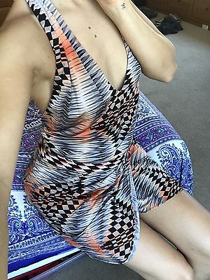 BCBG Maxazria - 70's Inspired Halter Dress - (70s Inspired)
