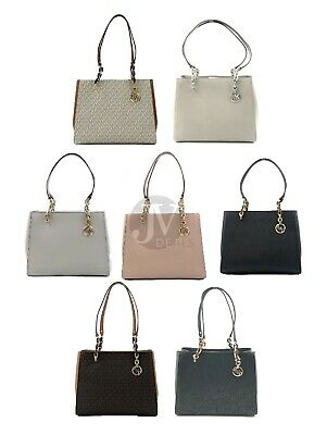 Michael Kors Sofia Large North South Chain Tote Handbag Bag