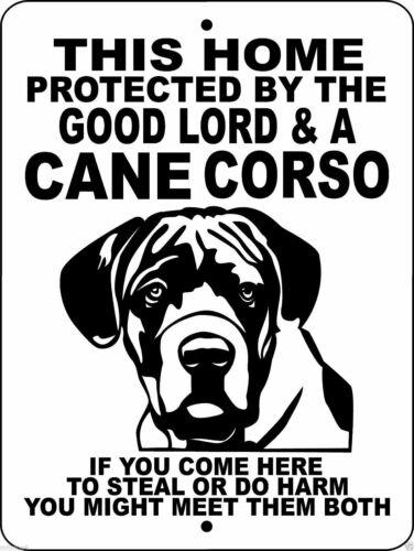 "0352 Cane Corso 12""x18"" Aluminum Sign"