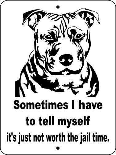 "0602 Pit Bull Terrier 9""x12"" Aluminum Sign"