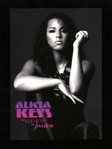 ALICIA KEYS 2010 THE ELEMENT OF FREEDOM VOL. 2 TOUR PROGRAM BOOK / NMT 2 MINT
