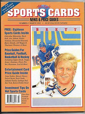 March 1992 Sports Cards News   Price Guides Magazine Brett Hull Cover