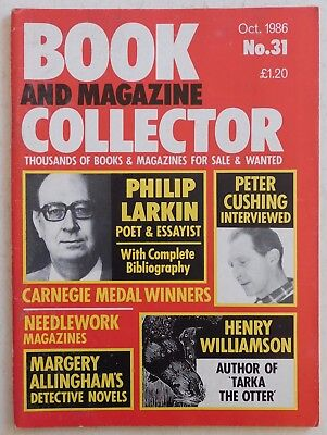 BOOK & MAGAZINE COLLECTOR #31 - 10/1986 - Philip Larkin, Henry Williamson