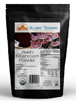 Reishi Mushroom Powder Organic  4:1 Extract 4 oz (120 gr) Free Shipping