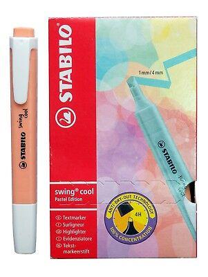 Stabilo Swing Cool Pastel Orange Peach Color Highlighter Text Marker Pen 10 Pcs