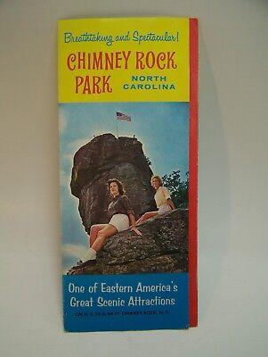 Chimney Rock Park North Carolina Guide Tourist Souvenir Map Vintage  1950's 60s