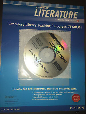 Prentice Hall Literature Common Core Literature Library Teaching Resources Cd