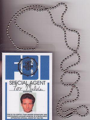 Halloween Costume Item Fox Mulder Xfiles X-Files BADGE ID Identification Card (Halloween X Files)
