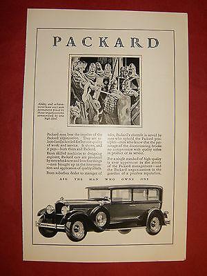 1929 PACKARD ORIGINAL AUTOMOBILE  AD