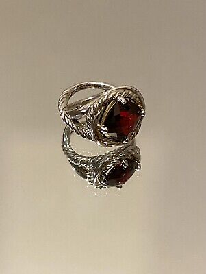 David Yurman 11x11mm Garnet Infinity Ring