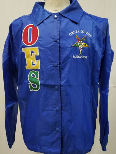 Order of the Eastern Star OES Line Jacket-Blue- Size 4XL-New!