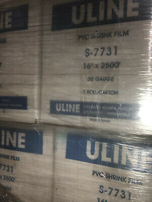 48.00 - Uline Pvc Shrink Film S-7731 16 X 2500 60 Gauge - 36 Rolls Available