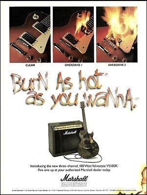 Usado, Marshall 100 Watt Valve State VS100R Guitar Amp ad 1996 advertisement 8x11 print comprar usado  Enviando para Brazil