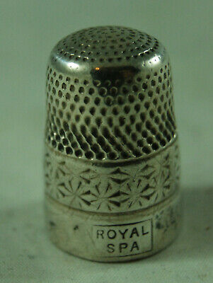 Antique Silver Thimble HG&S Birmingham 1934 Size 17 Royal Spa