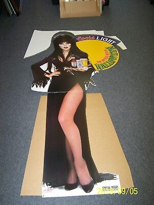 ELVIRA MISTRESS OF THE NIGHT COORS LIGHT HALLOWEEN STANDEE / STAND UP - NEW !!!!](Light The Night Halloween)
