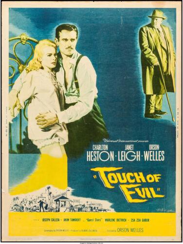 "Movie Poster Touch of Evil 1958 International 30""x40"" Fine 6.0 Charlton Heston"