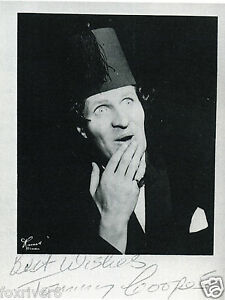 TOMMY COOPER - Signed Photograph - Comedy TV Star / Magician preprint