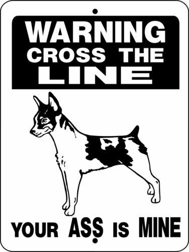 "0633 Rat Terrier 9""x12"" Aluminum Sign"