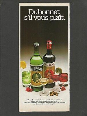 Dubonnet Rouge - Dubonnet Rouge or Dry Dubonnet  Aperitif  -  1979 Vintage Print Ad