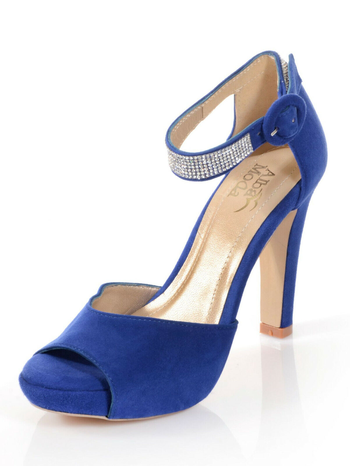competitive price 56b99 794af Details zu Alba Moda Sandalette mit Plateausohle, royalblau. Gr. 35. NEU!!!  SALE%%%